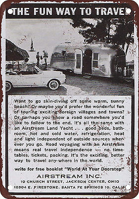 """7"""" x 10"""" Metal Sign - 1963 Airstream Trailers - Vintage Look Reproduction"""