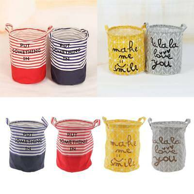 Foldable Storage Basket Kids Toy Clothes Books Bucket Bin Laundry Hamper 28x24cm