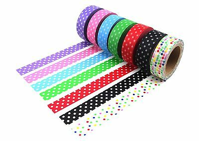 7 Polka Dots Washi Tape Adhesive Scrapbook Journal Planner 1.5cm x10m