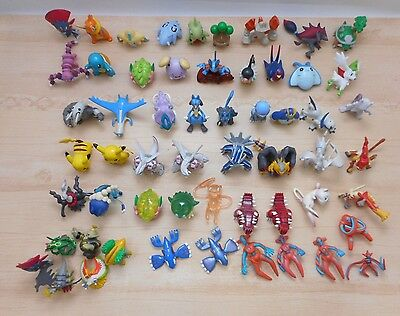 Pokemon Figure Tomy & Other Lot of 57 Monster Collection Set Pearl Clear