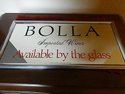 Bolla Imported Wine mirror, Metal Frame with large Print