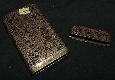 Oriental Niello card case, metal, nice old piece
