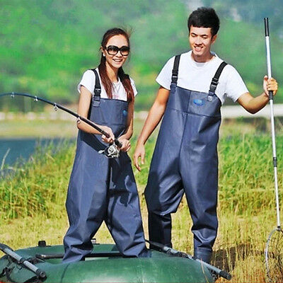 Adults Work Fishing Waders Wading Trousers Chest Pants Boot Waterproof Overalls