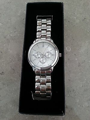 Avon Men's Silvertone Chronograph Look Watch - New In Box