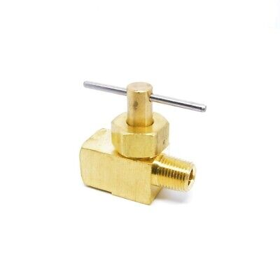 1/8 Male NPT x 1/8 Female NPT Inline Brass Liquid Gas Needle Valve Propane