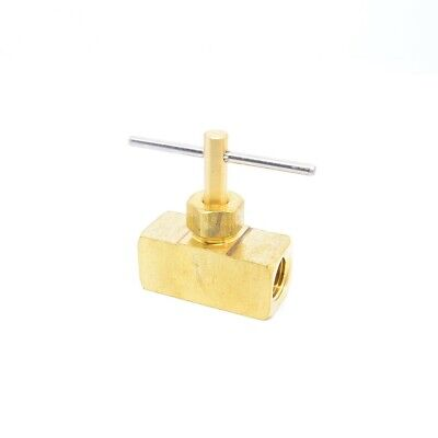 1/8 Female NPT Inline Precision Brass Liquid Gas Needle Valve Propane