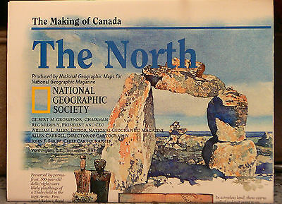 Vintage  1997 National Geographic Map of The North