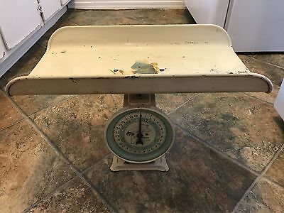Vintage Hanson Nursery Scale Household Baby 30 Thirty Pounds LBS Works Metal