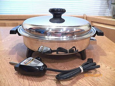 Regal Ware LIFETIME 1200 Watt Electric Casserole Skillet Waterless Liquid Core