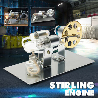 Mini Hot Air Stirling Engine Motor Model Science Educational Steam Power Toy