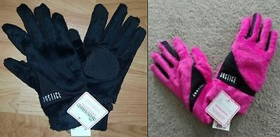 NWT Justice Girls One Size Super Soft Texting Gloves - Black or Pink (you pick)