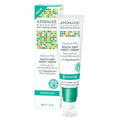 Andalou Naturals Quenching Coconut Youth Firm Night Cream 50g