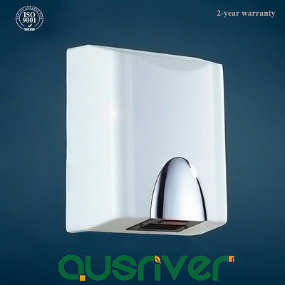 1400W Zinc-aluminum Alloy Wall Mounted Automatic Hand Dryer Washroom White