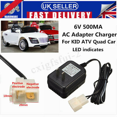6V Wall AC Adapter Charger Power Supply For Kid TRAX ATV Quad Ride On Car New