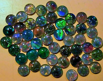 OPAL TRIPLETS FOR STUDS OR EARRINGS 50 of 5 mm  CABOCHONS 20 carats