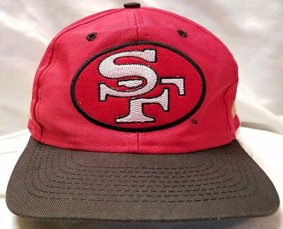 eb17efc1715 San Francisco 49ers snapback cap hat Competition vintage vtg 90s red black  NFL