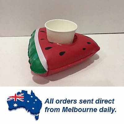 Inflatable Watermelon Slice Drink/Can Float Holder Pool Party Beach CLEARANCE