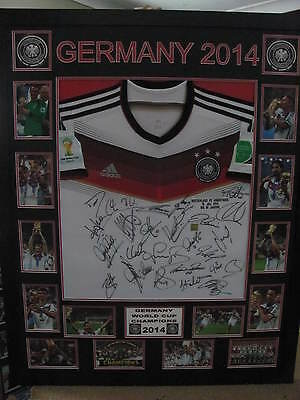 2014 Germany World Cup Champions Signed & Framed Shirt/jersey +Coa