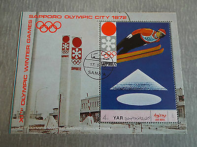 BF Obl. YEMEN 1972 : Jeux Olympiques de Sapporo - Air Mail
