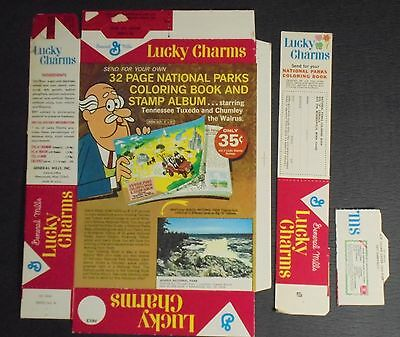 Lucky Charms VINTAGE Cereal Box - NEW - UNUSED  Layout Box General Mills 1964 D