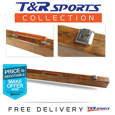 """Retro Style Hard Cue Case Box Carring for Pool Billiard 2-Piece 57"""" Cues Sticks"""