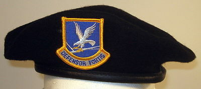 US Air Force Security Forces Crest Badge Beret for Enlisted Members 7 1/4 or 58