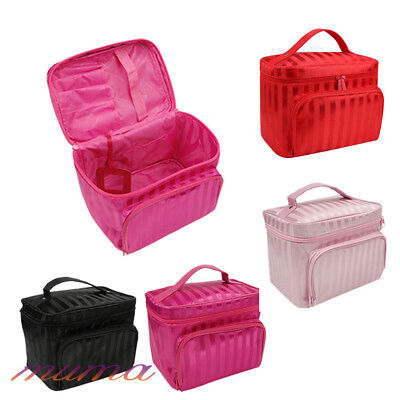New Large Beauty MakeUp Nail Tech Cosmetic Box Jewellery Vanity Case Storage Bag