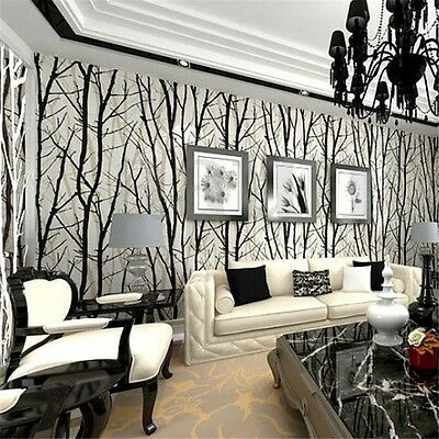 10M Modern 3D Luxury Abstract Curve Wall Roll Mural Paper Parede Flocking Decor