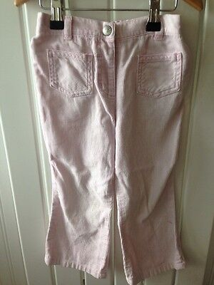Little Girl's NEXT - Pale Pink Corded Bootflare Trousers 2-3yrs