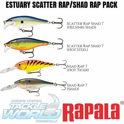 Rapala Small Estuary Scatter Rap / Shad Rap Combo (4 Lure Value Pack) BRAND NEW