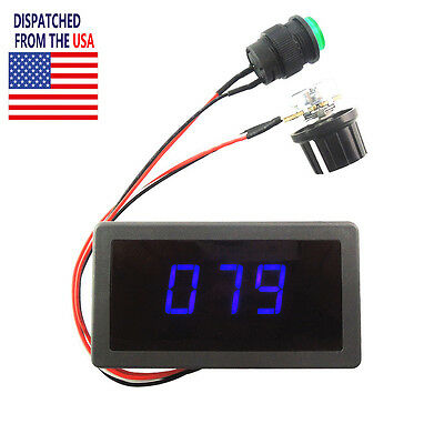 DC 6V-30V MAX 8A PWM Motor Speed Controller Blue Digital Display Speed Switch