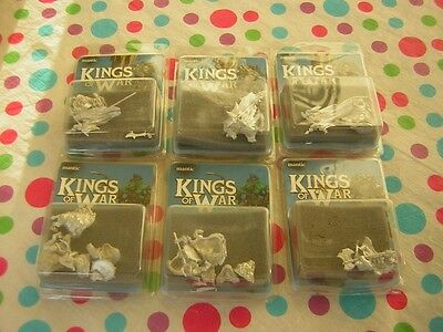 Kings Of War Figures ~ Goblin & Mawbeast X 2.orc Flagger X 3. Orc Warlord