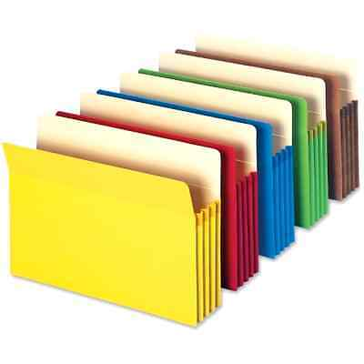 File Pocket Straight Cut Tab Expanding Folder Office Organizer Expansion 5 Pack