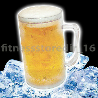 Frosty Ice Tankard - Freeze & Enjoy - Drink Chilled Icy Cold Beer - Novelty Gift