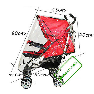 Waterproof PVC Clear Rain Cover for Baby Pushchair Stroller City Select Carrycot