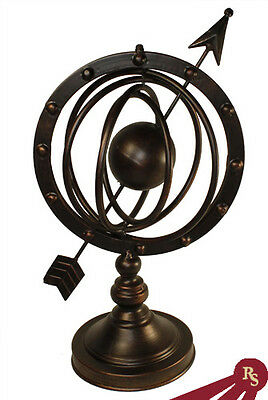 METAL ARMILLARY SPHERE - Astro Globe - ANTIQUE FINISH