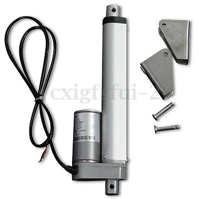 6'' Inch 150mm 1000N Stroke Linear Actuator Motor Heavy Duty + 2 Bracket DC 12V