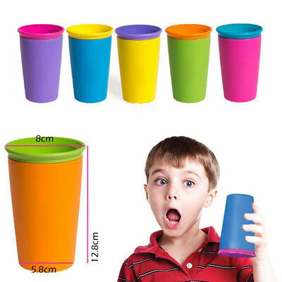1PC Fashion Modern Children Gift Safe Spill Free 360 Degree Drink Cup 6 Colors