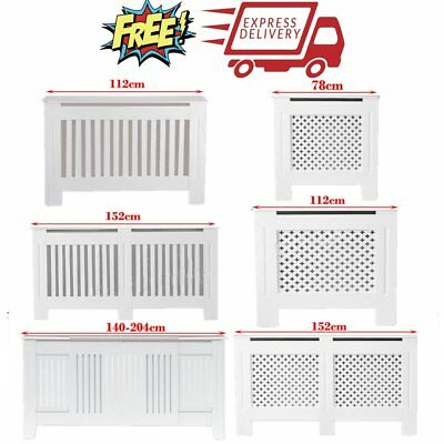 High-quality Modern White Radiator Cover MDF Wood Cabinet Grill Furniture Sizes
