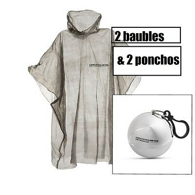 PONCHO x2 Raincoat Mercedes AMG Petronas Formula One F1 NEW in Christmas Bauble