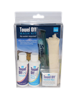 Strider TowelOff WashKit - Stay Clean And Fresh Without Water! Festivals Camping
