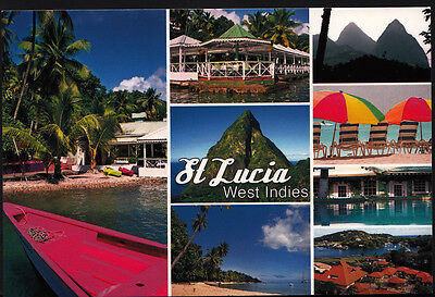 Caribbean Postcard - Views of St Lucia, West Indies    8011