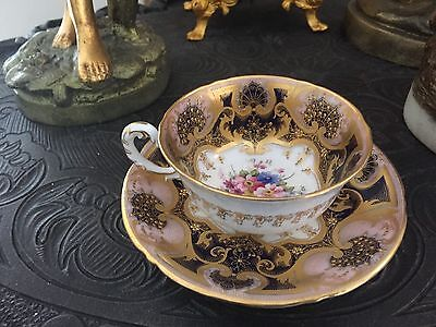 Antique Royal Worcester ( W 8833) hand painted  tea cup & saucer England,1918