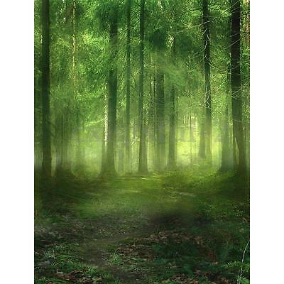 5x7ft Green Forest Nature Photography Backdrop Photoprop Photo Studio Background
