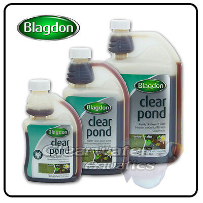 Blagdon CLEAR POND Cloudy Green Water TREATMENT Clarity FLOCCULENT Filter Aid