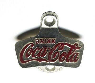 Vintage Drink Coca Cola Coke Wall Bottle Opener Star Starr X Brown Germany Iron