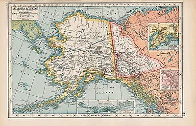 1920 Map -Post Ww1- Canada- Alaska & Yukon