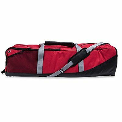 FBAS-CHAMFBALAXBAGRD-Champion Sports Lacrosse Equipment Bag (Red)