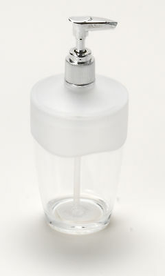 CNHF-BAAFRLO-Carnation Home Fashions Clear Acrylic Lotion Pump with Frosted Cle