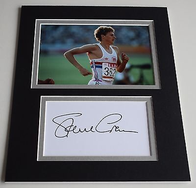 Steve Cram Signed Autograph 10x8 photo display Olympics Track Field Athlete COA